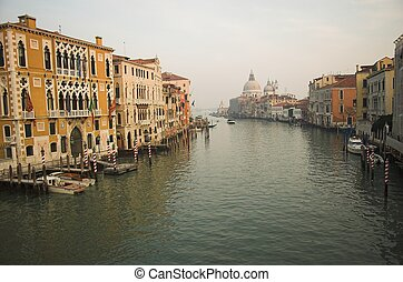 Venice - winter view from the Accademia Bridge