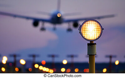 venir, atterrissage, avion
