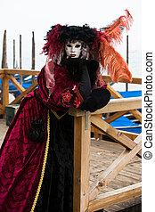 venise, déguisement, carnaval