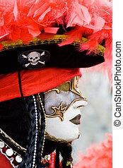 venise, masque, déguisement, carnaval