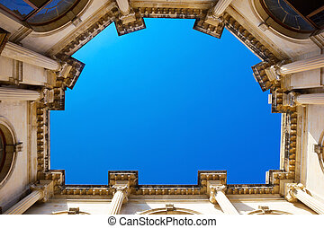 Venitian Loggia - Courtyard of the Venetian Lodge in...