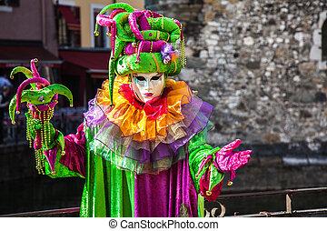 Venitien Festival, Annecy, France - Participants wearing...