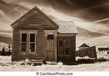 venkovský, dávný, ubytovat se