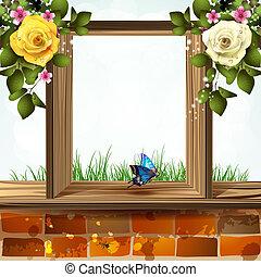 venster, bloemen