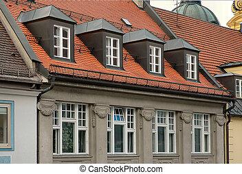 venster, gabled, dakvenster