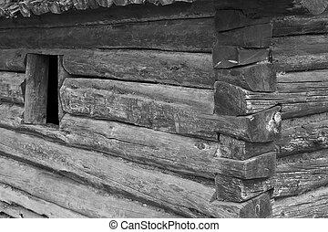 venster, houthakkershut