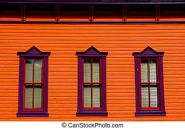 venster, kleurrijke