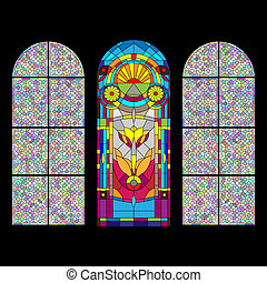 venster, stained-glass
