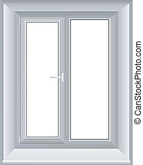 venster, vector, illustratie