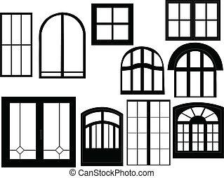 venster, verzameling