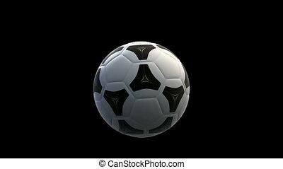 venster, voetbal, verbreking, bal
