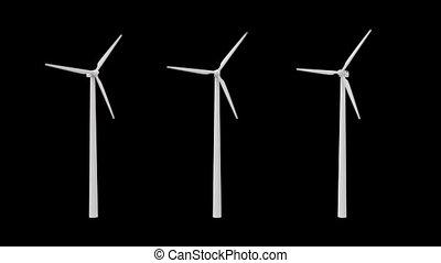 vent, alpha, plante, canal, puissance
