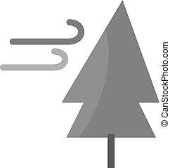 vent, arbre