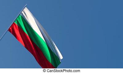 vent, drapeau, national, bulgarie, voler
