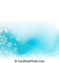 vent, flocon de neige, fond