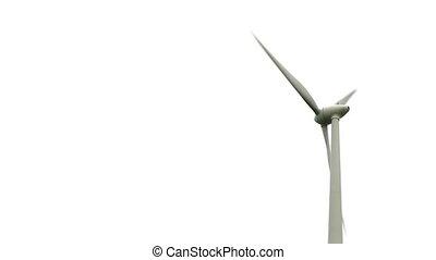 vent, gros plan, -, turbine, hd