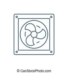 Vent linear icon concept. Vent line vector sign, symbol,...