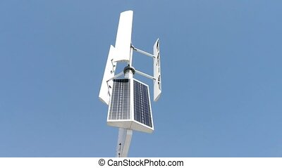 vent, nouveau, turbine, énergie solaire