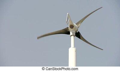 vent, nouveau, turbine, energy., puissance