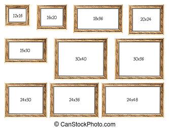 venta, dimensiones, diez, popular, más, marcos