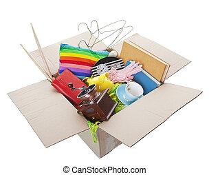 venta garaje, caja