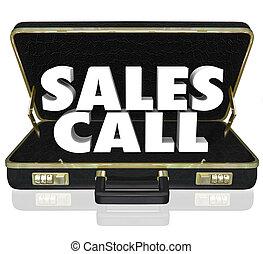 venta, maletín, presentación, ventas, llamada, propuesta, abierto