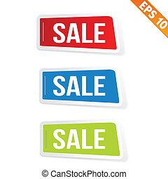 venta, pegatina, etiqueta, -, vector, ilustración, -, eps10