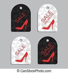 venta, pegatinas, conjunto, para, mujeres, shoes