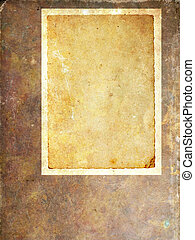 Ventage paper frame - Abstract blank aged paper background ...