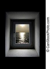 ventana, abstracción