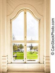 ventana, arqueado
