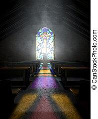 ventana de cristal de colores, iglesia