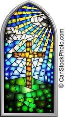 ventana de cristal de colores