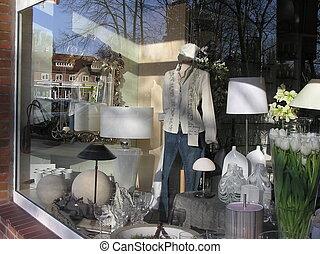 ventana de la tienda