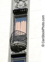 ventana, detalle, arquitectónico
