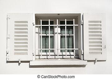 ventana, jalousie