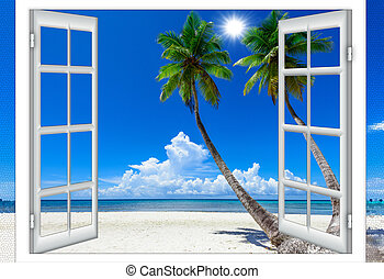 ventana, mar abierto