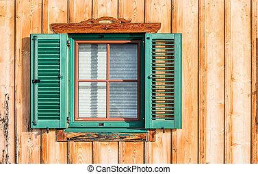 ventana, persianas, obturadores