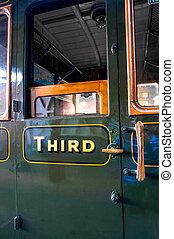 ventana, puerta, carruaje, tercero, clase