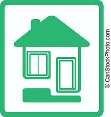 ventana, puerta, casa, icono