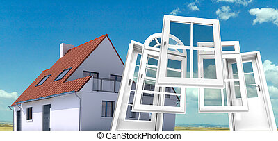 ventana, puerta, reemplazo