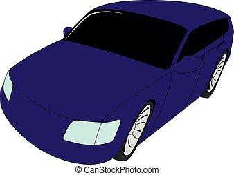 ventana trasera, púrpura, aislado, vector, ilustración