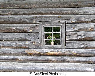 ventana, viejo