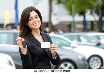 ventas coche, y, alquiler