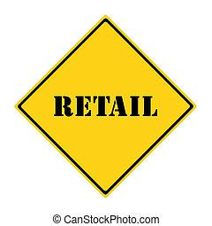 vente au détail, signe