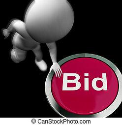 vente, enchère, offre, pressé, achat, spectacles