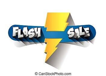 vente, flash