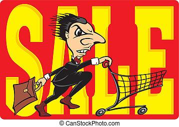vente, -, réduction, coût