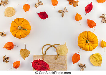 vente, thanksgiving, automne, gabarit, automne, promotion