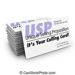vente, ton, business, appeler, proposition, usp, unique, ...